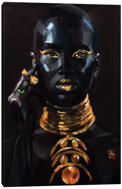 Gold Canvas Art Print