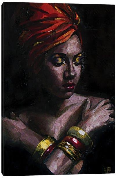 Girl In turban Canvas Art Print