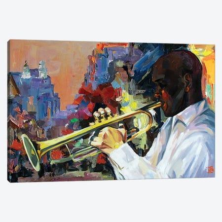 Jazz Canvas Print #KTB71} by Kateryna Bortsova Canvas Print