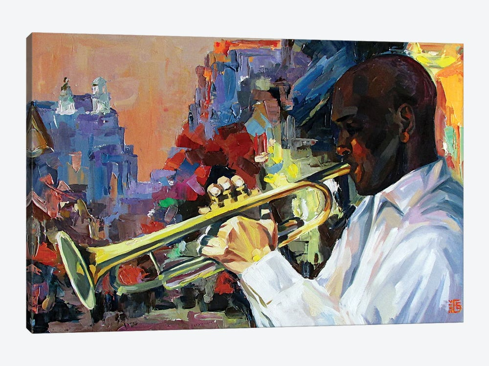 Jazz by Kateryna Bortsova 1-piece Canvas Art Print