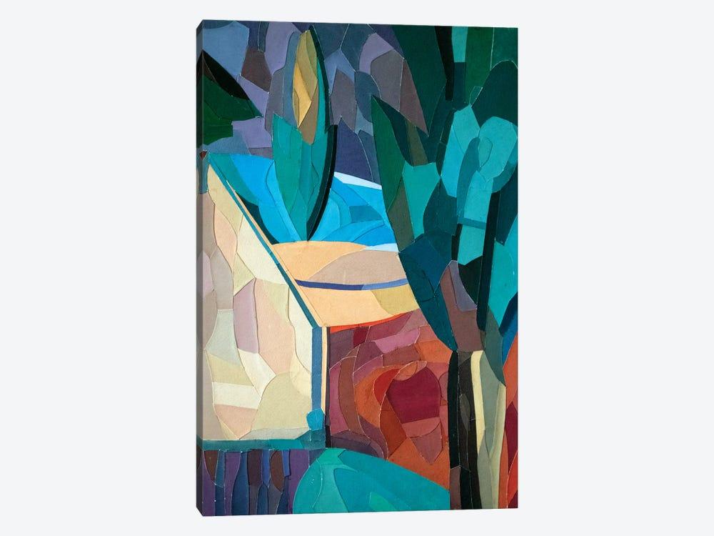 House In The garden by Kateryna Bortsova 1-piece Canvas Art Print