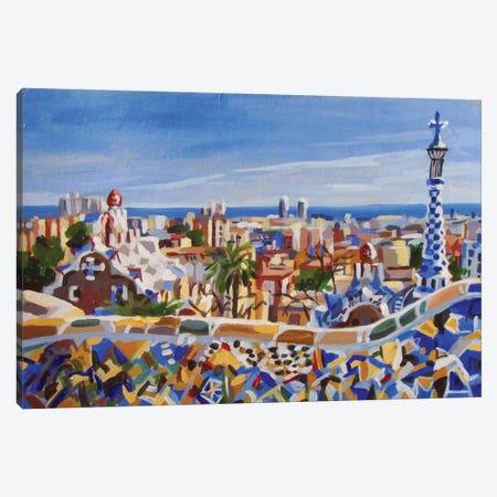 Barcelona Gaudi Canvas Print #KTB76} by Kateryna Bortsova Canvas Artwork