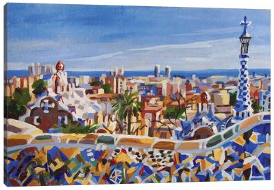 Barcelona Gaudi Canvas Art Print