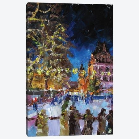 Christmas Ice Ring Canvas Print #KTB77} by Kateryna Bortsova Canvas Art