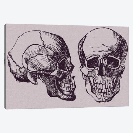 Skull Canvas Print #KTB86} by Kateryna Bortsova Canvas Print