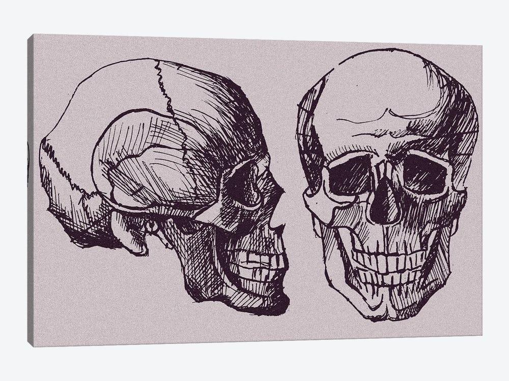 Skull by Kateryna Bortsova 1-piece Canvas Print