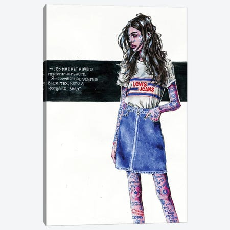 Indigo Girl Canvas Print #KTC19} by Katerina Chep Canvas Artwork