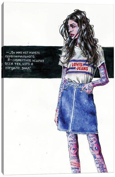 Indigo Girl Canvas Art Print