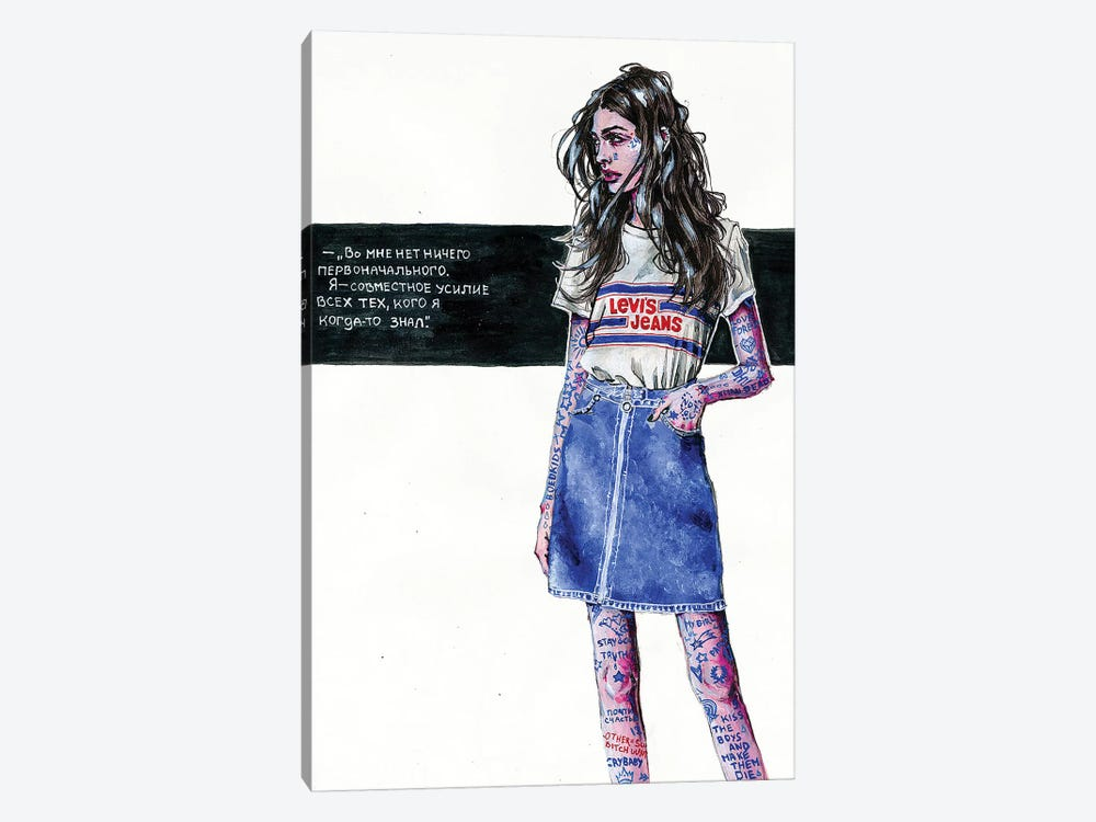 Indigo Girl by Katerina Chep 1-piece Canvas Artwork