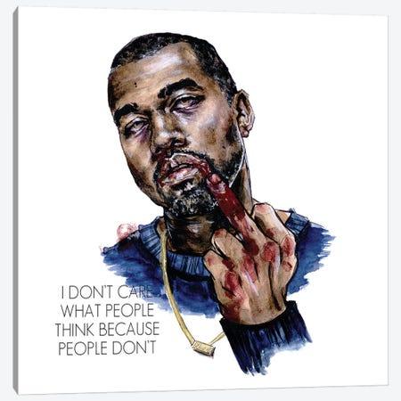 Kanye W Canvas Print #KTC21} by Katerina Chep Art Print