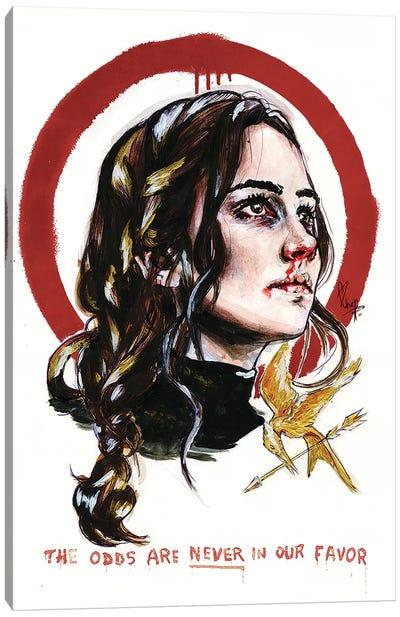 Katniss, The Hunger Games Canvas Art Print