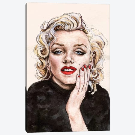 Marilyn M Canvas Print #KTC27} by Katerina Chep Canvas Art