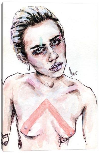 Miley C Canvas Art Print