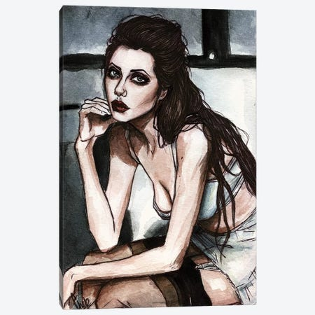 Angelina J, 90s Canvas Print #KTC2} by Katerina Chep Art Print