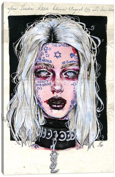 Tattoo Girl Canvas Art Print