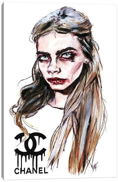 Cara D, Face Canvas Art Print