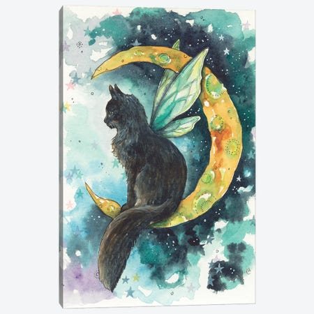 Mischeif Moon Fae Canvas Print #KTF10} by Kat Fedora Canvas Art Print