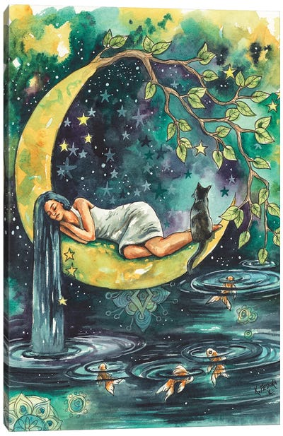 Moon Goddess Of The Lake Canvas Art Print