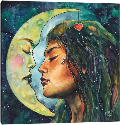 Moon Lovers Canvas Art Print