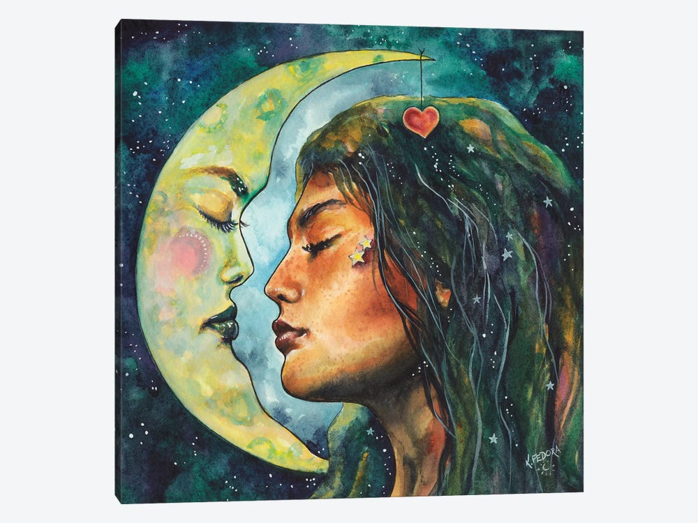 Moon Lovers by Kat Fedora 1-piece Canvas Print