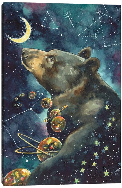 The Great Sky Bear Canvas Art Print