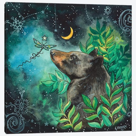 The Sounds Of Night Canvas Print #KTF17} by Kat Fedora Canvas Artwork