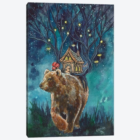 Ursa Cottage Canvas Print #KTF19} by Kat Fedora Art Print