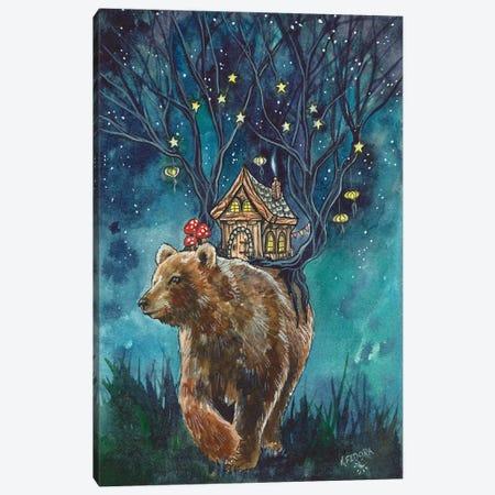 Ursa Cottage Canvas Print #KTF19} by Kat Fedora Art Print