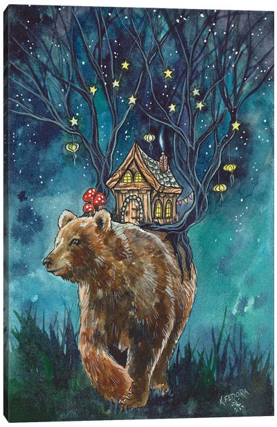 Ursa Cottage Canvas Art Print