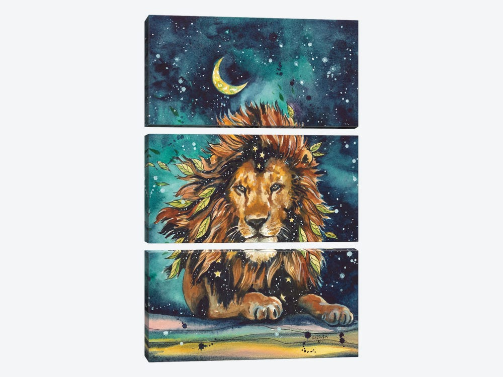Becoming The Stars by Kat Fedora 3-piece Canvas Print