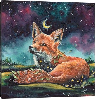 Watching The Night Canvas Art Print