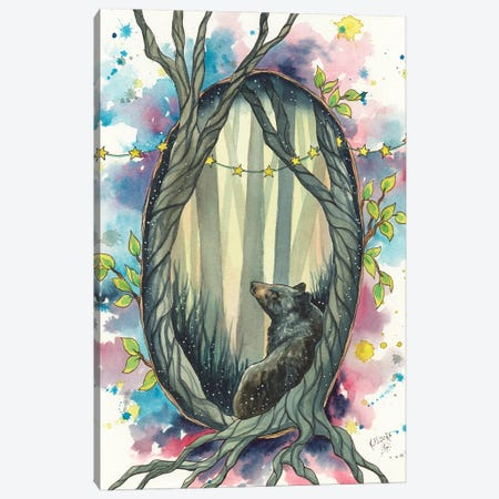 Walking Softly Canvas Print #KTF22} by Kat Fedora Canvas Art