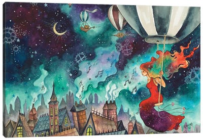 Bewitching The Night Canvas Art Print