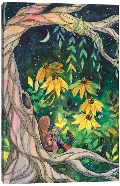Among The Wildflowers Canvas Art Print