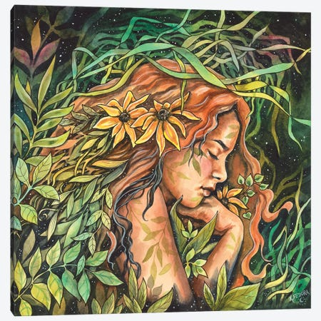 A Garden Bed Canvas Print #KTF32} by Kat Fedora Canvas Print