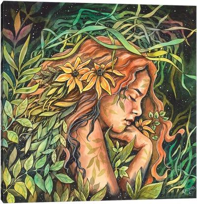 A Garden Bed Canvas Art Print