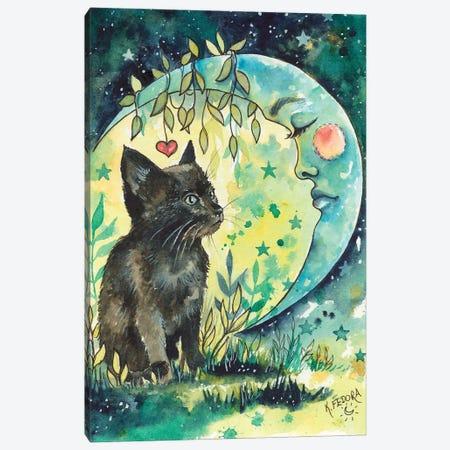 Spirit Moon Canvas Print #KTF37} by Kat Fedora Canvas Art