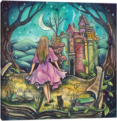 Of Stories And Castles Canvas Art Print