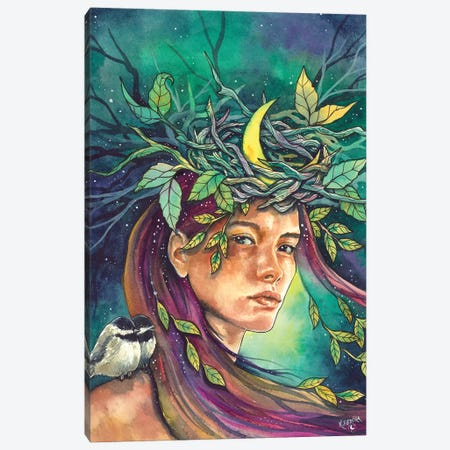 Moon Daughter Canvas Print #KTF43} by Kat Fedora Canvas Art