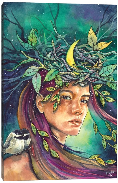 Moon Daughter Canvas Art Print