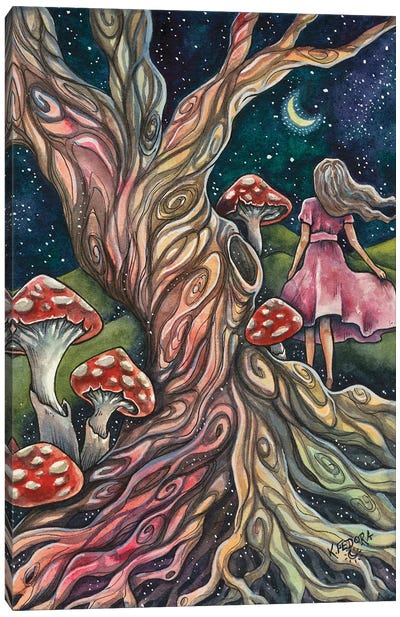 The Tree Sprite Canvas Art Print