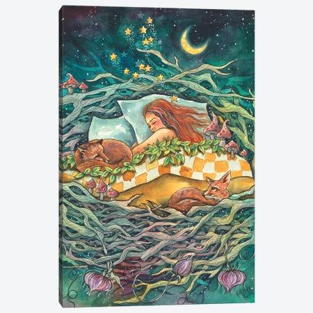 The Fox Nest Canvas Print #KTF56} by Kat Fedora Canvas Wall Art