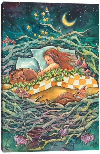 The Fox Nest Canvas Art Print