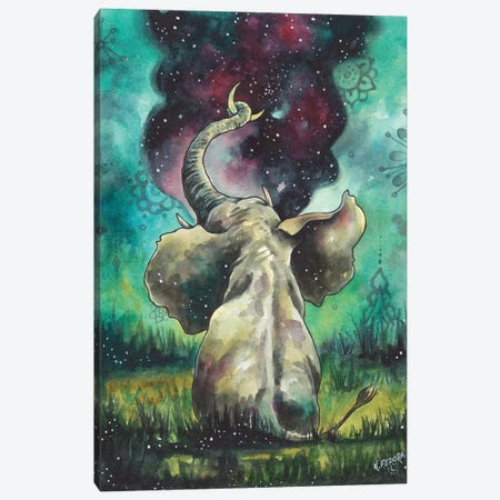 Hanging The Moon Canvas Print #KTF5} by Kat Fedora Canvas Print