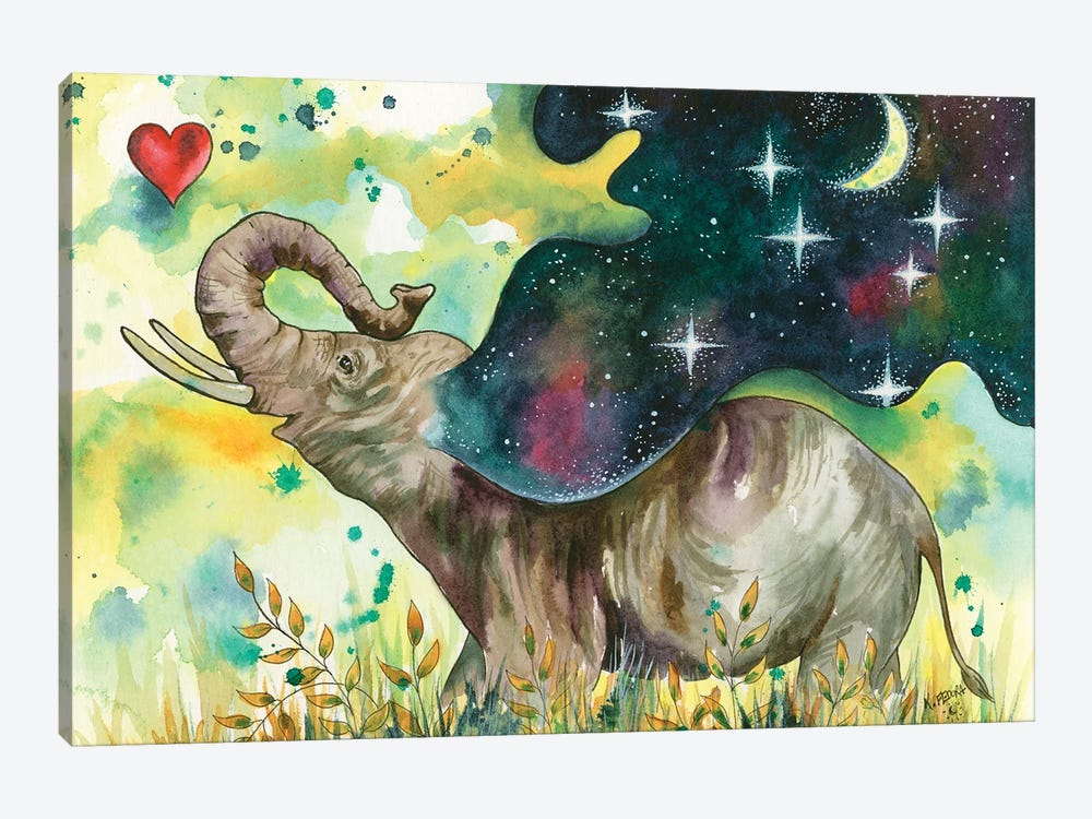 Joy Filled by Kat Fedora 1-piece Canvas Art