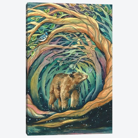 Magical Woodlands Canvas Print #KTF9} by Kat Fedora Canvas Art