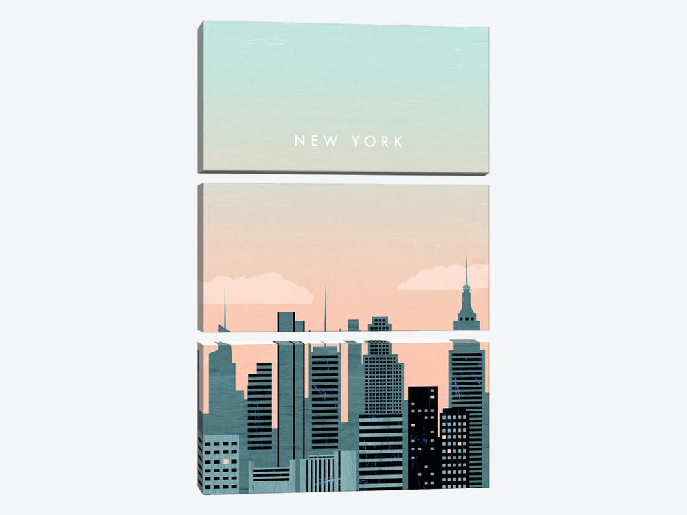 New York by Katinka Reinke 3-piece Canvas Artwork