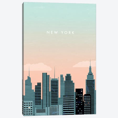 New York 3-Piece Canvas #KTK10} by Katinka Reinke Canvas Wall Art