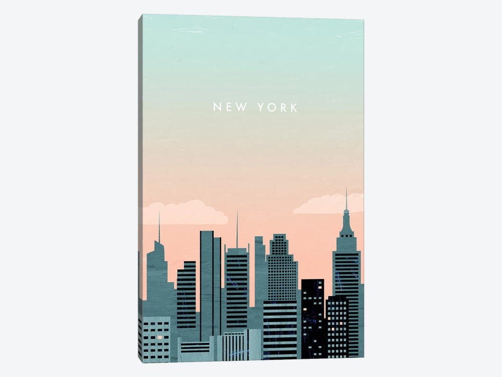 New York 1-piece Canvas Wall Art