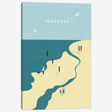 Nordsee Canvas Print #KTK11} by Katinka Reinke Canvas Wall Art